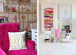 pink home office. this office is gorgeous i would love to create an orange pink and gold home k