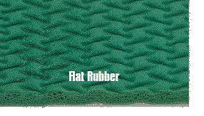 carpet padding. flat rubber is by far the best carpet padding available.
