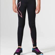 2xu Youth Compression Tights Size Chart 2xu Girls Compression Tights Nwt Black And Pink Nwt
