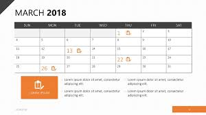 Free Calender Templates 2018 Calendar Template Free Powerpoint Template