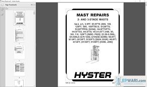hyster r30xms2 wiring diagram wiring Wiring Diagram For Hyster 50 Forklift Hyster H100 Wiring