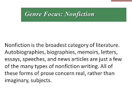 nonfiction is the broadest category of literature ppt video  nonfiction is the broadest category of literature
