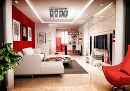 Red Chairs For Living Room Living Room Ceiling Light Varnished Red Chair Wooden Floor White