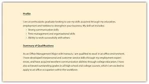Resume Profile Examples Resume Objective Sample Jobsxs Com