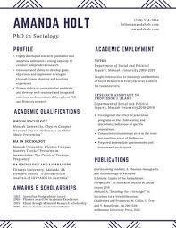 Academic Resume Template Fascinating Customize 48 Academic Resume Templates Online Canva
