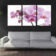 3 panels unframed canvas photo prints pink butterfly orchid flower wall art picture canvas paintings wall on orchid flower wall art with 3 panels unframed canvas photo prints pink butterfly orchid flower