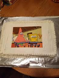 Im Turning 25 Today My Mom Made Me This Cake Love It Spongebob