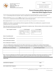Informal Child Support Agreement Templates At