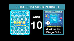 disney tsum tsum bingo card 10 pleted list clips notes gifts