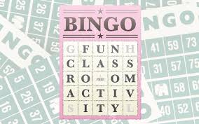 fun clroom activity bingo bookwidgets