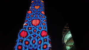Burj Khalifa Light Show Timings Burj Khalifa Led Lighting Show At Night 2019