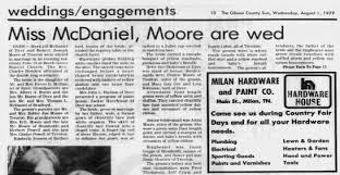 Wedding Announcement for Myra McDaniel in 1979 - Newspapers.com