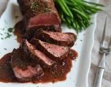 beef tenderloin in wine sauce