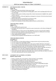 Videographer Editor Resume Samples Velvet Jobs