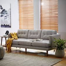 who makes west elm furniture. west elmu0027s peggy sofa which was upholstered in fabric retailed for 1199 ikeau0027s landskrona leather retails 799 and comes with a 10year who makes elm furniture l