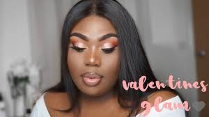 valentine s day pink glam makeup tutorial dark skin