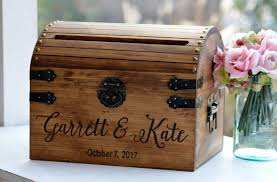 bridal shower card box wedding ideas diy gift wooden