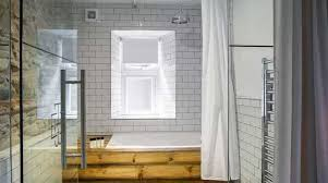 glass bathroom walls peculiar or the