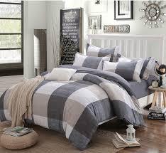 100 cotton striped lattice bedding set full queen super king size duvet cover bed sheet
