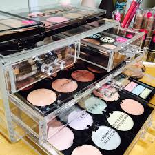 The Technic 4 Drawer Cosmetic Organiser includes four large drawers to  showcase and store your makeup collection. The strong, clear acrylic  organiser takes ...
