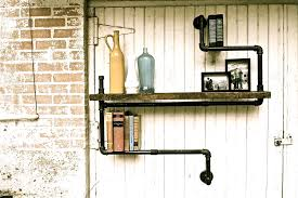 accessories and furniture suitable industrial pipe shelving designs outdoor wall shelves feature industrial pipe