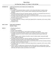 surface maintenance mechanic resume sle as image file