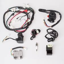 complete electrics wire loom magneto stator wiring harness for gy6 complete electrics wire loom magneto stator wiring harness for gy6 125cc 150cc atv quad out coil stator walmart com