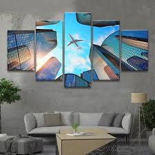 airbus a380 boeing 747 airplane wall art canvas print poster painting decor on wall art canvas picture print with airplane in flight wall art multi panel canvas mighty paintings