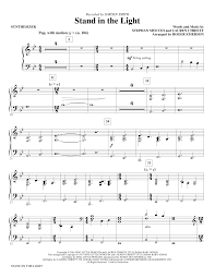 In The Light Sheet Music Stand In The Light Synthesizer By Roger Emerson Choir Instrumental Pak Digital Sheet Music