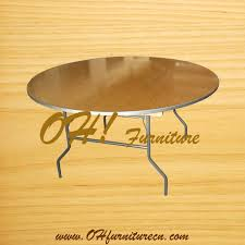 72inch 5ft round plastic wood folding tables for banquet wedding