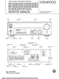 Kenwood Service Manual Home B51 5840 00 Manufactured Goods