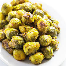the best garlic roasted brussels