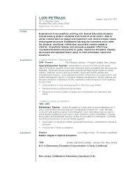 School Teacher Resume Examples Resume Examples For Teachers ...