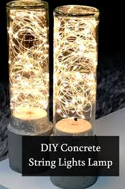 Light And Living Lighting Be Mesmerized On This Beautiful Play Of Lights Project Make Your Own DIY String Concrete Lamp To Vamp Up Living Room Light And Lighting