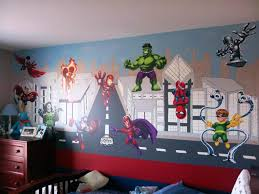 marvel comics superhero wall decals
