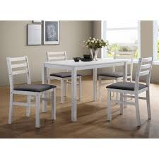 white and black dining room table. ERSMARK 5pc Dining Set (White) White And Black Room Table