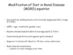 modification of t in renal disease mdrd equation