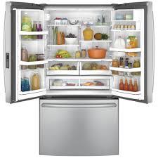 open refrigerator door. ft. counter-depth french door refrigerator open l