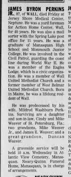 James Byron Perkins (1914-2002) - Obituary - Newspapers.com