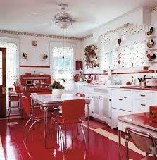 Retro Red Kitchen Retro Kitchen Curtains