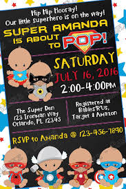 Superman Baby Shower Invitations  KawaiitheoComSuperhero Baby Shower Invitation