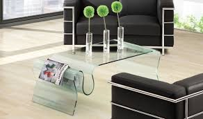 Zuo Modern Coffee Table Discovery Modern Coffee Table In Clear Glass By Zuo Getfurniture