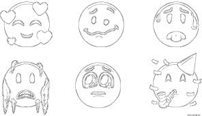Coloriage Ios 12 Emoji Original Dessin