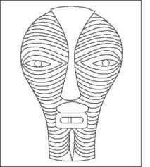 Small Picture African Mask Coloring Pages Royaltyfree Rf Tribal Mask Clipart By