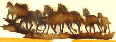 large metal horse wall art