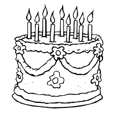 Small Picture Printable Birthday Cake Coloring Pages Coloring Me