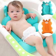 2019 cartoon bear baby bath tub foldable baby bath tub pad chair shelf newborn bathtub seat infant support cushion mat from newyearable 21 66 dhgate com