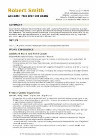 Assistant Coach Resume Samples Assistant Track And Field Coach Resume Samples Qwikresume