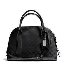 ... coach bleecker preston satchel in black signature fabric