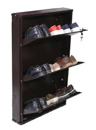 brown jambo 3 wall mounted metal shoe